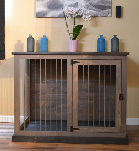 Dog Crate Furniture Dog Kennel Furniture Pet Crate Pet Etsy