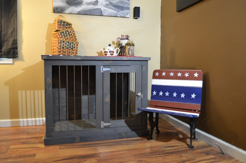 Large dog crate furniture Dog kennel furniture image 0