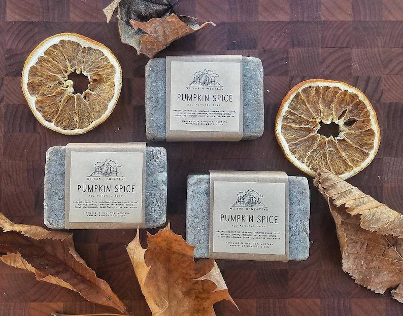 Pumpkin Spice Soap Pumkin Pie Soap Cinnamon Soap Pumpkin image 0