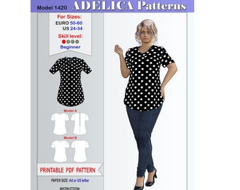 Plus size patterns | Etsy
