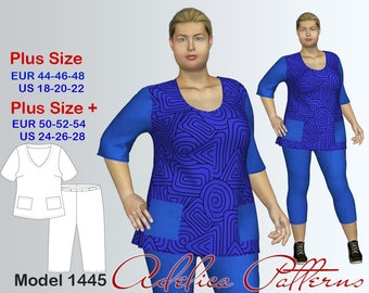 821cc28010ee0 Tunic   Leggings Patterns Set Sewing Patterns PDF for Women in sizes 18-28