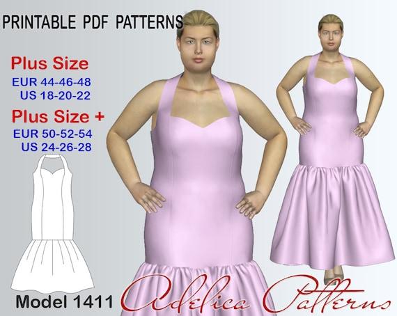 Elegant Mermaid Wedding Dress Sewing Pattern Pdf Evening Etsy