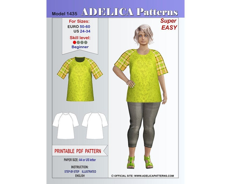 picture about Free Printable Plus Size Sewing Patterns named Additionally dimensions Raglan Sleeve Tunic Sewing Habit Womens dimensions 24-34 US / 50-60 Euro ,Tunic PDF Instantaneous Down load Sewing Routine