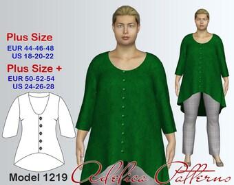 Plus size Cardigan Sewing Pattern PDF, Women's sizes 18-28 , Plus size Cardigan PDF Instant Download Sewing Pattern, Cardigan Sewing Pattern