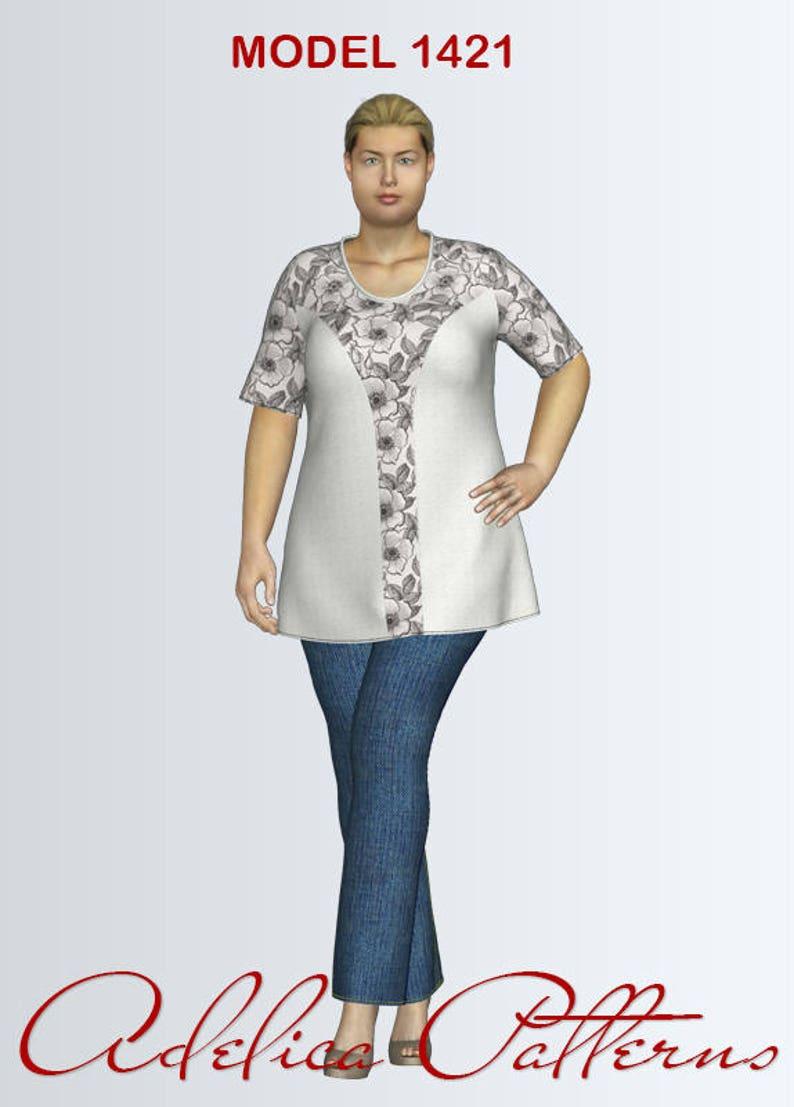 3e19960b5e92ae Plus size Tunic Sewing Pattern PDF Women's sizes 18-28   Etsy