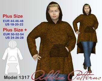 Plus size Teddy Knit Cardigan Sewing Pattern PDF, Women's  sizes 18-28 , Plus size Cardigan PDF Instant Download Sewing Pattern