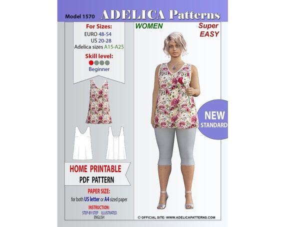 pdf sewing patterns for women Puff sleeve summer blouse Jacket Tops Shirts pattern instant download sew pattern Sewingman Video tutorial