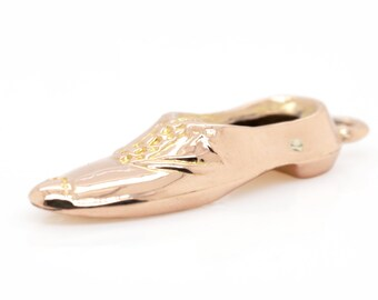 VINTAGE  Rose gold Charm -  9ct Gents shoe C1920s