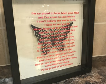 Wedding or occasion Picture Frame - any wording or poem