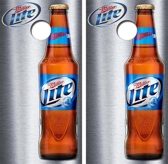 Cornhole Wraps Miller Lite Beer Vinyl Decal Set