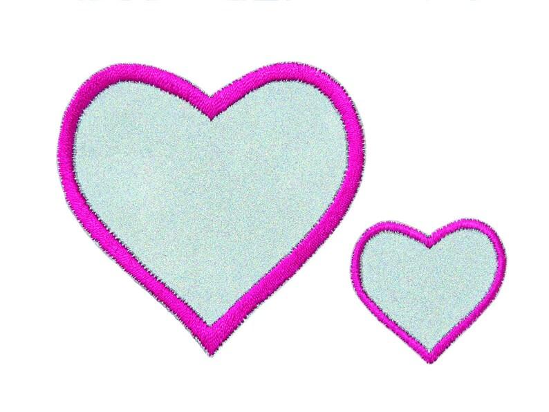 Application Reflecting Patching Iron REFLEX Hearts 2 Set Mono Quick 08310 Heart