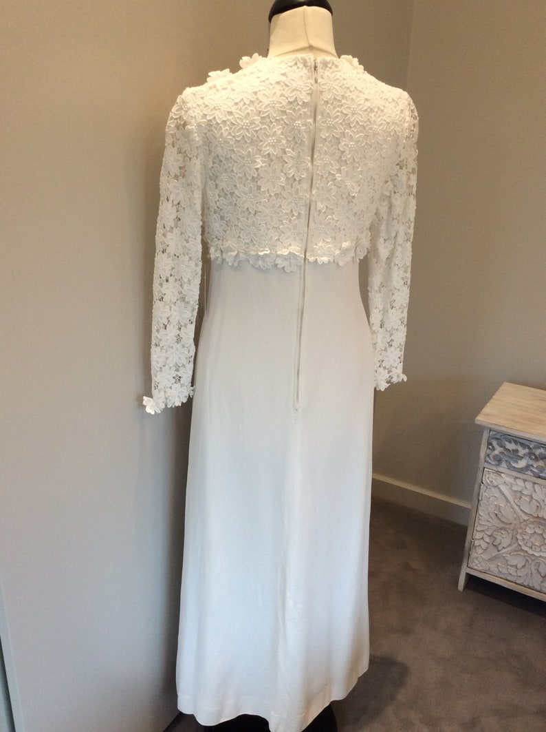 Vintage 90s midi wedding gown with Austrian crystals UK 810
