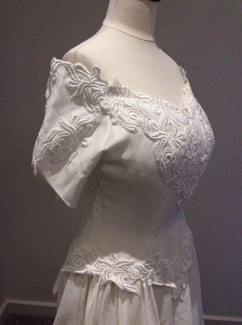 Vintage 1990/'s cream wedding gown