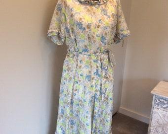 Vintage 1980's floral tea dress UK size 14