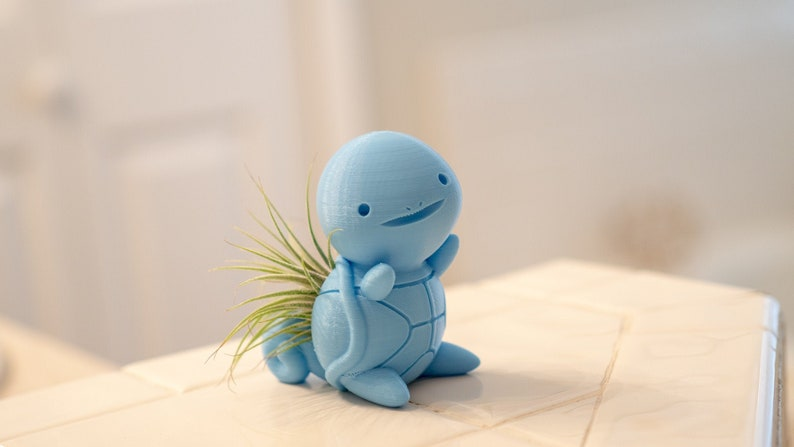 Cute Plant Pots Great For Apartment Decor And Best Friend Gifts Squirtle Inspired Pokemon  Air Plant Holder