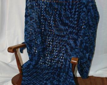 Crocheted Never-Ending Granny Square Blanket