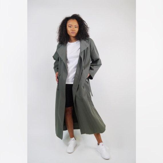 Olive Green London Fog Belted Trench Jacket / Vint