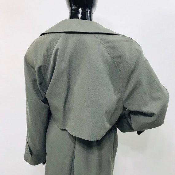 Olive Green London Fog Belted Trench Jacket / Vin… - image 6