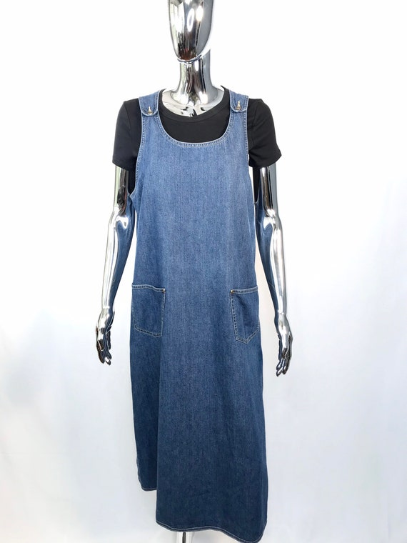 Liz Claiborne Denim Pinafore Dress