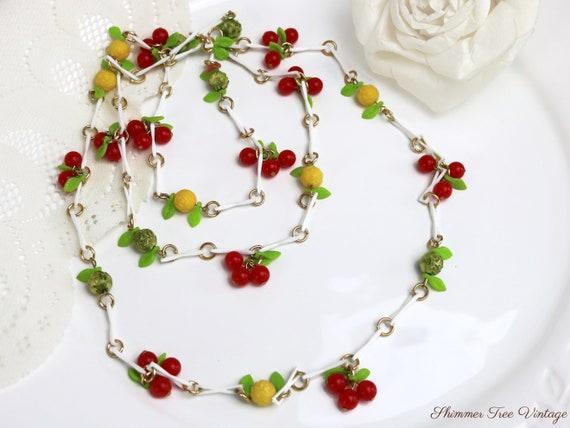 Long Celluloid Fruit Salad Necklace