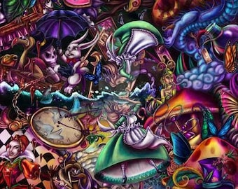 We're All Mad Here (large colored print)