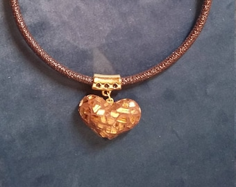 Cord Necklace with heart