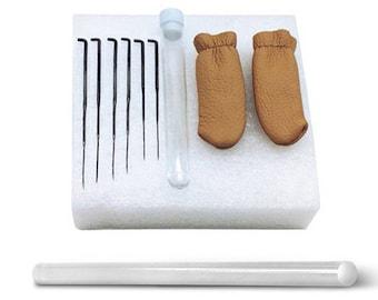 Needle Felting Starter Kit Wool Felt Tools + Needle + Gloves + Glue + Foam Accessories Craft 9 kits inside 100% Brand New