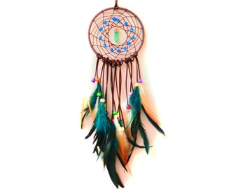 Dreamcatcher Kits with English Tutorial & MP4 Video Circular Net with Feathers for Wall Car Hanging Decoration Ornament Birthday Gift
