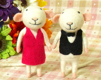 Mouse Couple Needle Felting Kits for Beginners (2 Pack)