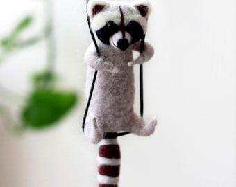 "Raccoon Needle Felting Kits 4"" - Needles, Finger Guards, Foam Mat, Instructions"