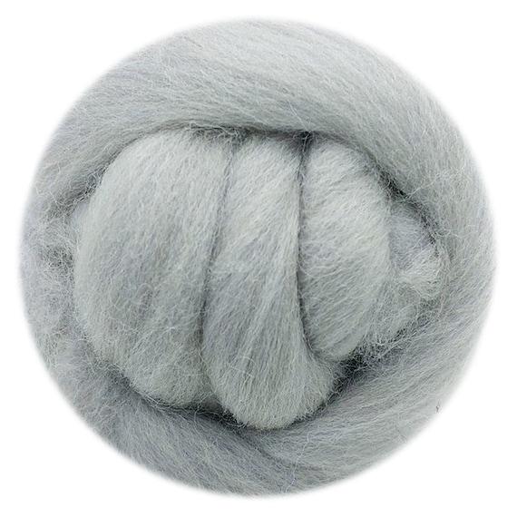 1 Ounce SILVER Merino Wool Roving for Felting
