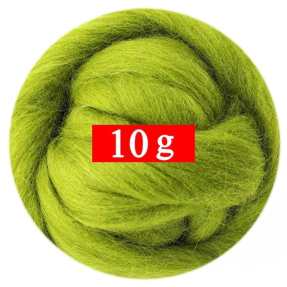 5 Bag x 10g Felting Wool 19 Microns Fast to Felt 01 40 Color Options for Needle Felting Kit Artec360 50g