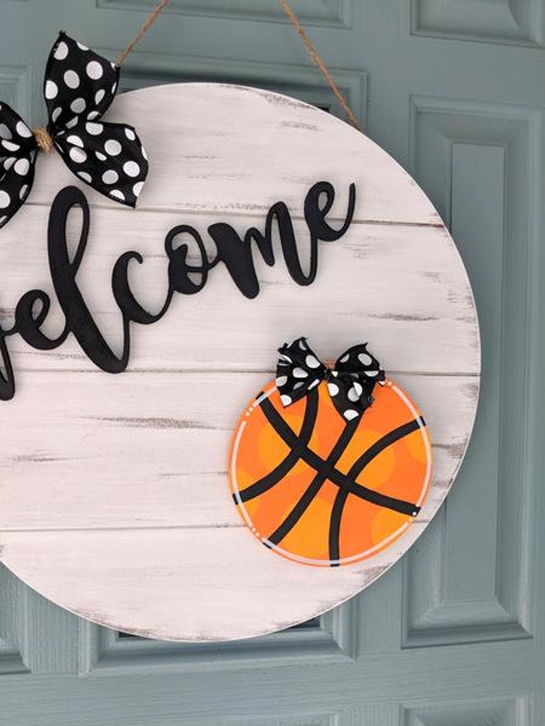 Interchangeable Door Sign Interchangeable Door Charms Basketball Attachment Door Hanger Fall Door Summer Attachments Spring