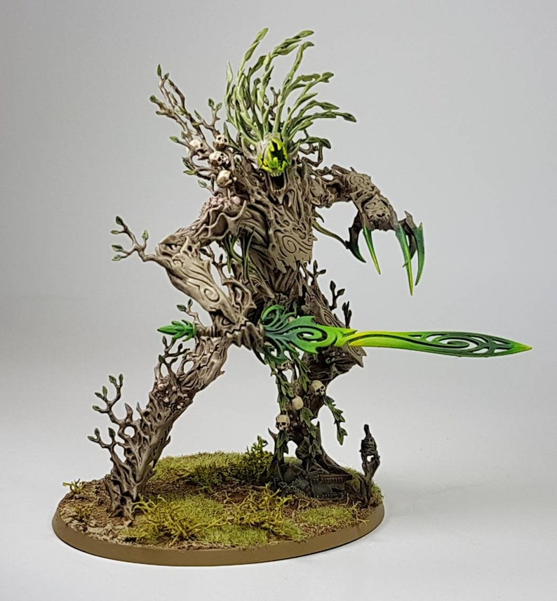 Warhammer Age of Sigmar Sylvaneth Collection custom paint available to  order  Branchwych, Treelord and 16 Dryads