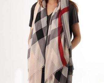 Burberry Inspired Scarf Etsy