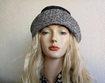 Woolen black hat for cold weather