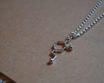 Dopamine Molecule Necklace - Personalisation Available