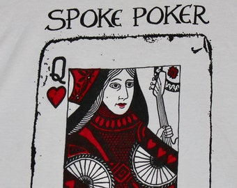 S * NOS vtg 80s/90s Spoke Poker t shirt * bay area indie punk blues * 36.157