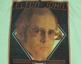 XS/XXS * vtg 70s 1976 Elton John rock of the westies tour t shirt * 29.186