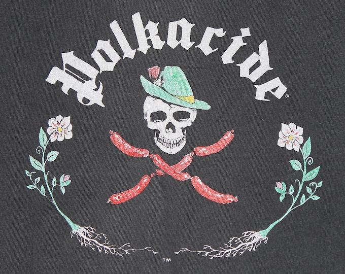 M * vtg 80s 1986 Polkacide t shirt * bay area polka punk * 64.148