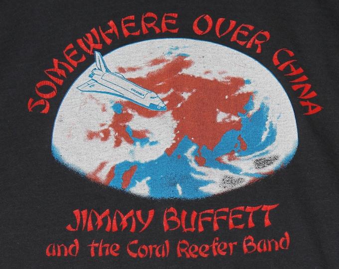 M * thin vtg 80s 1982 Jimmy Buffett somewhere over china t shirt * tour * 32.197