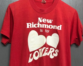 S/M thin vtg 80s New Richmond is for Lovers t shirt * small medium