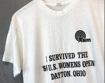M thin vintage 80s AIM Dayton Ohio handicapped t shirt