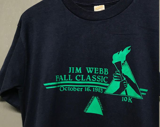 L vintage 80s 1983 Jim Webb Classic Brentwood Academy TN race t shirt
