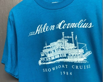 M/L vintage 80s 1984 Helen Cornelius showboat cruise t shirt * medium large