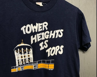 S vintage 80s 1983 Tower Heights Centerville Ohio t shirt
