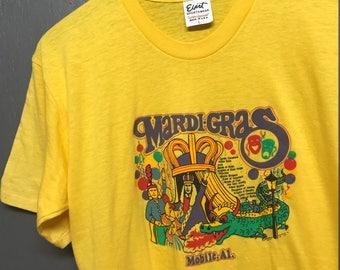 M nos vintage 70s Mardi Gras Mobile Alabama t shirt