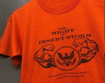 S vintage early 90s Desert Storm gulf war r shirt