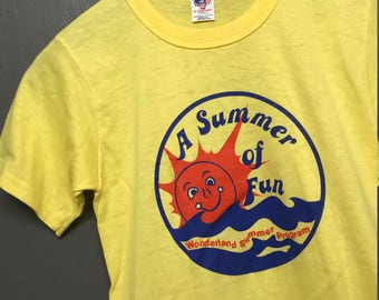 XS nos vintage 70s Summer Of Fun t shirt