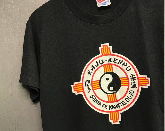 M thin vtg 90s Santa Fe Karate Dojo kaju kenpo t shirt